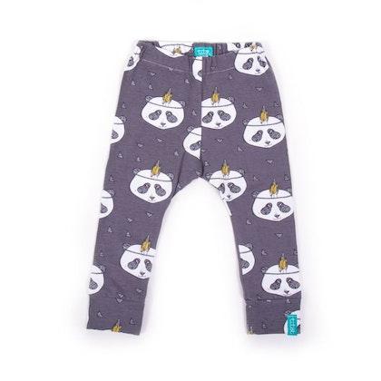 Barnleggings panda organic