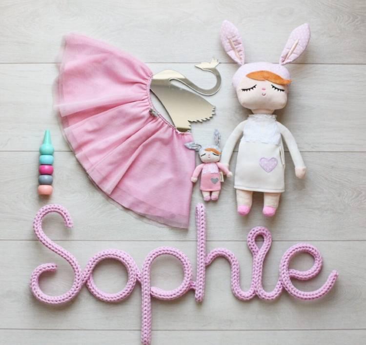 Vit kanindocka kanindocka Sophie