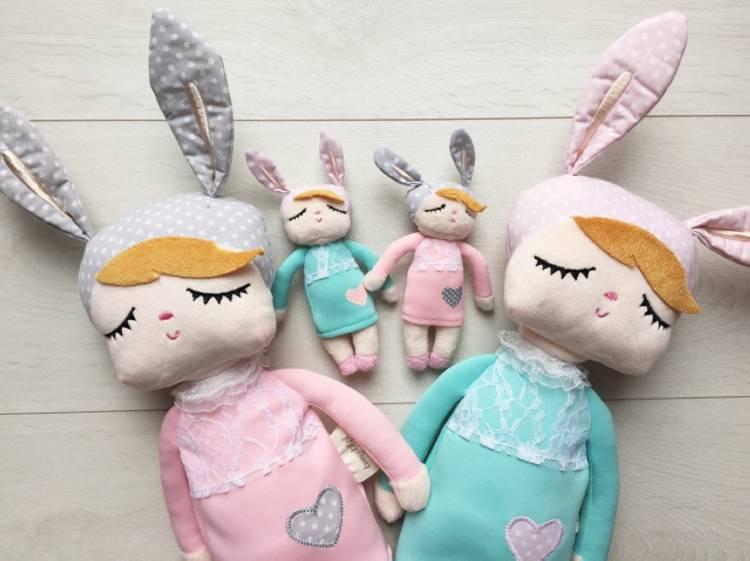 Rosa kanindocka kanindocka familj