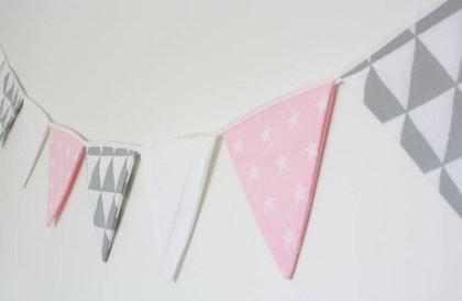 Vimpel till barnrummet rosa