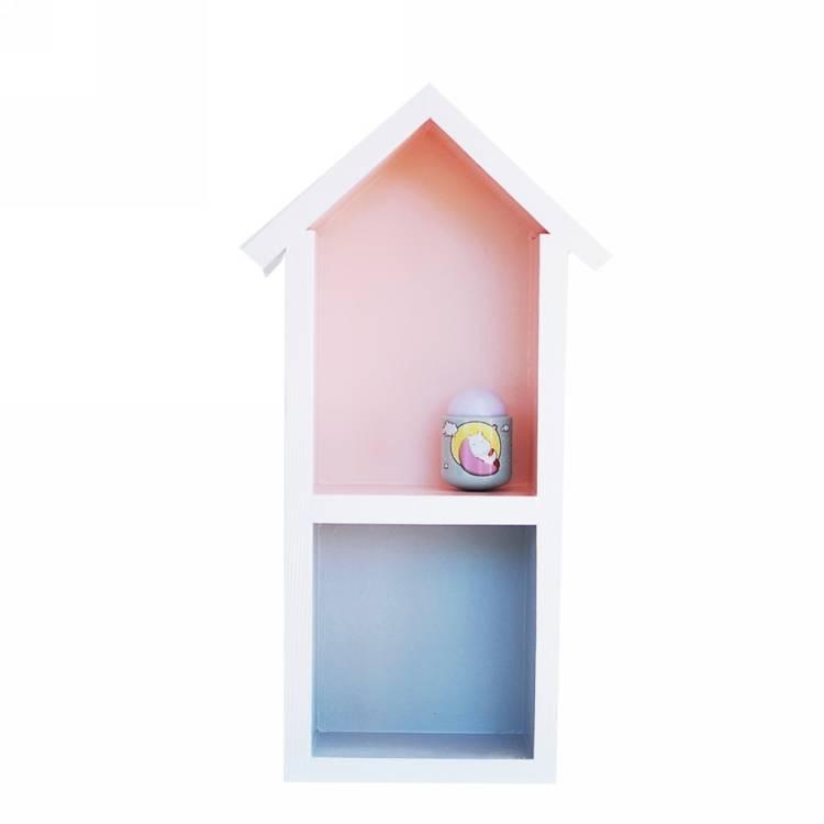 Hushylla rosa&grå, M grå hushylla