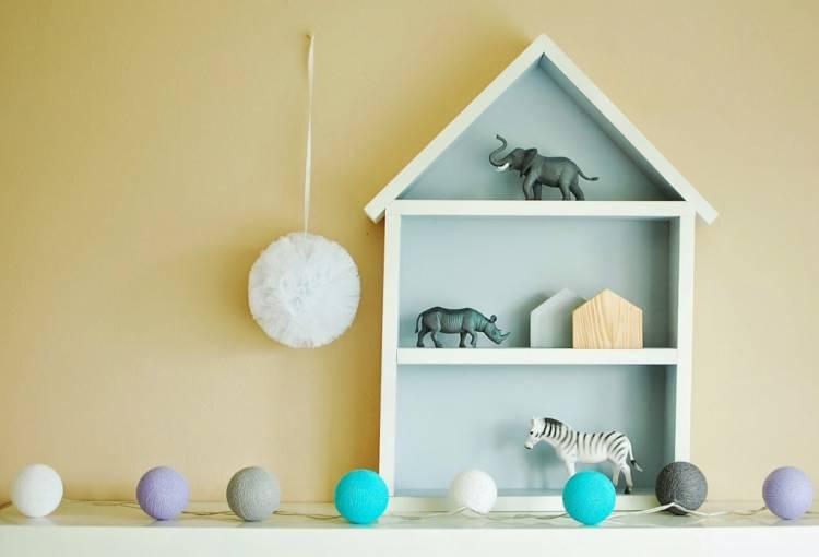 Hushylla grå, XL stor grå hushylla i barnrummet