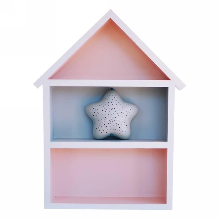 Hushylla rosa&grå, XL rosa hushylla till barnrummet