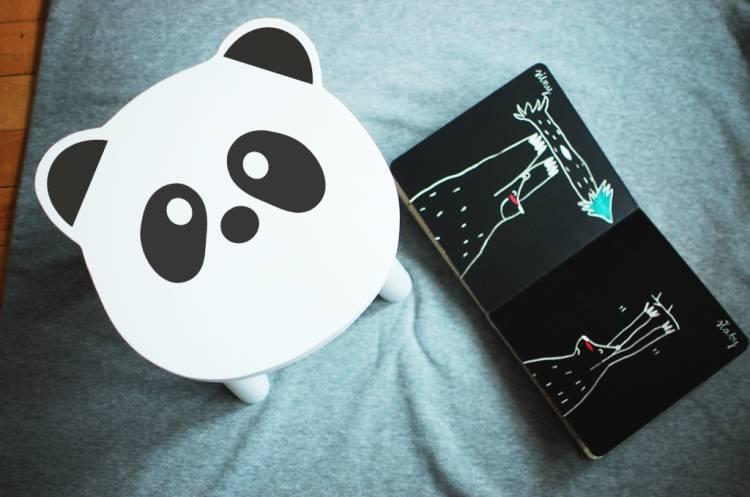 Barnpall Panda Barnpall Panda i barnrummet
