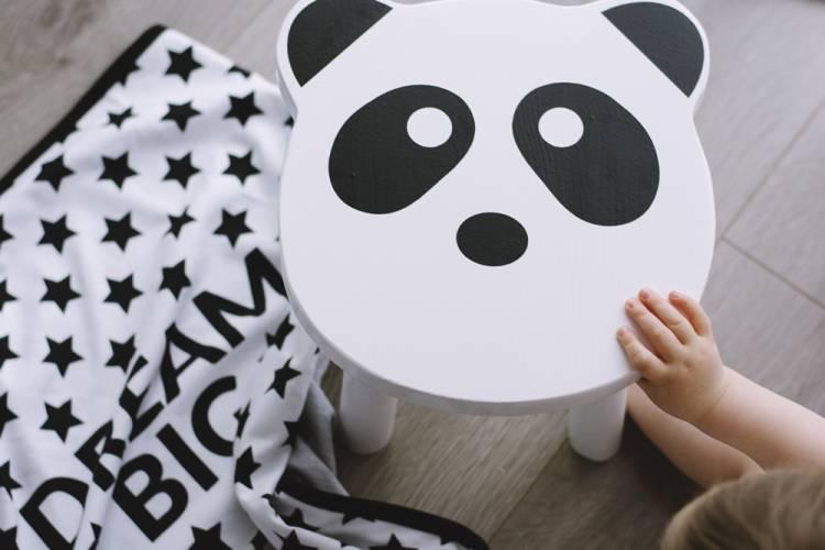 Barnpall Panda Barnpall som en panda