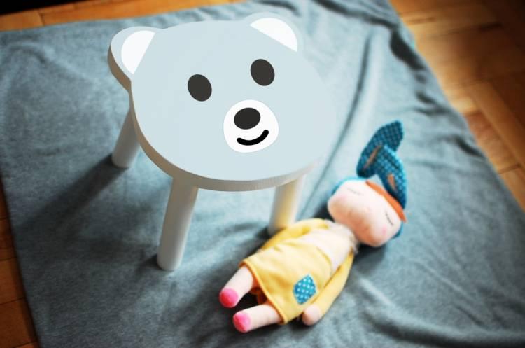 Barnpall Björn kanindocka och björn barnpall