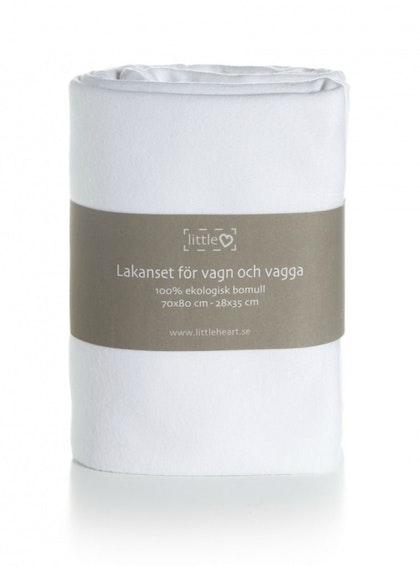 BÄDDSET VAGN & VAGGA  simply Basic White Little Heart