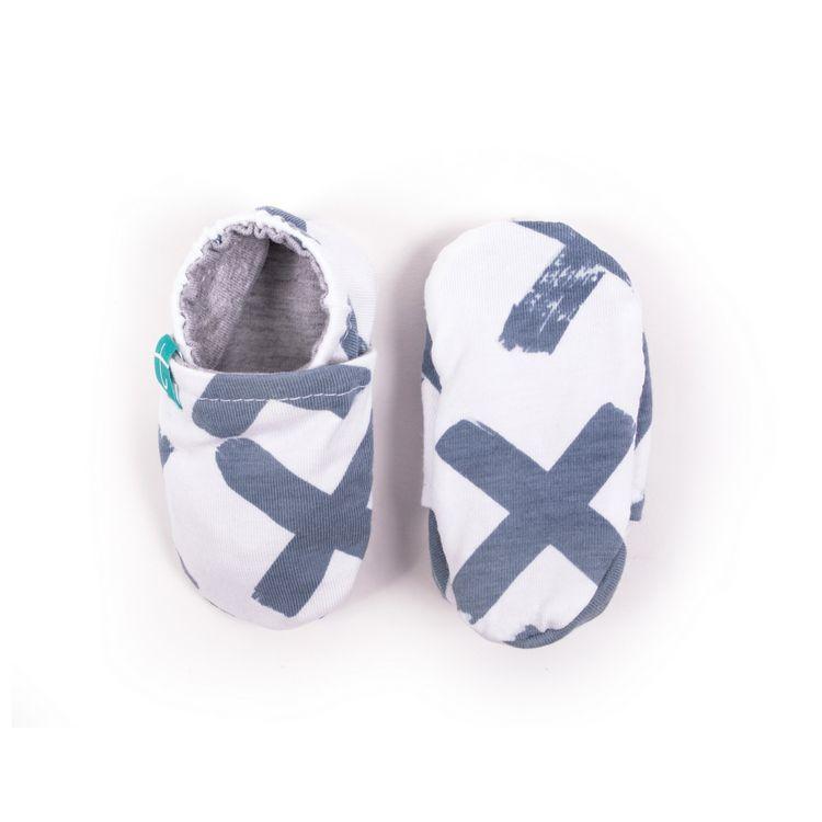 Newborn mockasiner XX organic blå