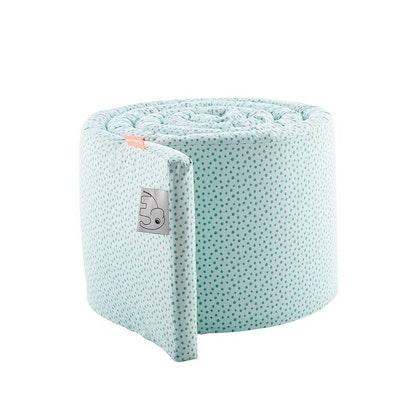 Blå spjälsängsskydd 350 cm, Happy Dots, Done by Deer