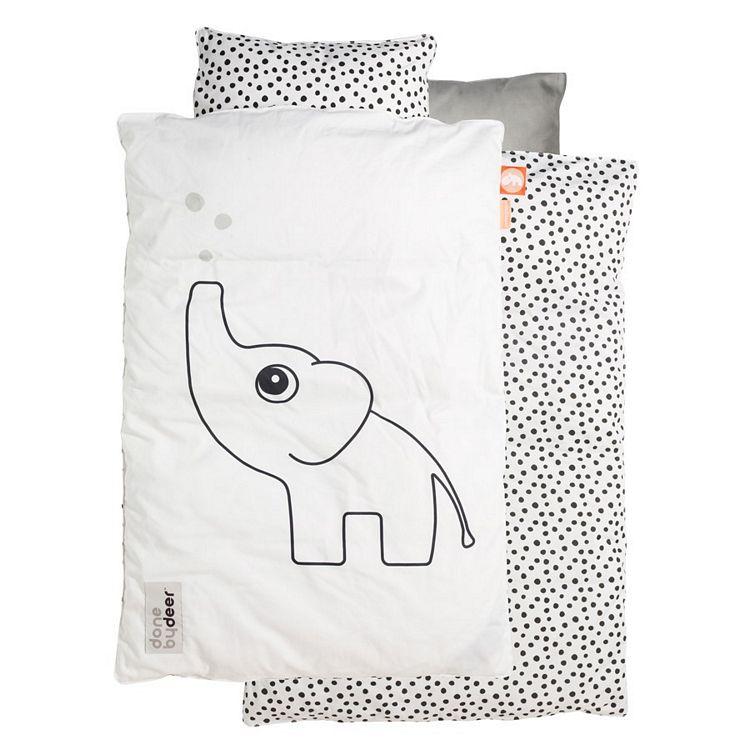 Barnsängkläder 70x80 cm , Elphee, vit, Done by Deer