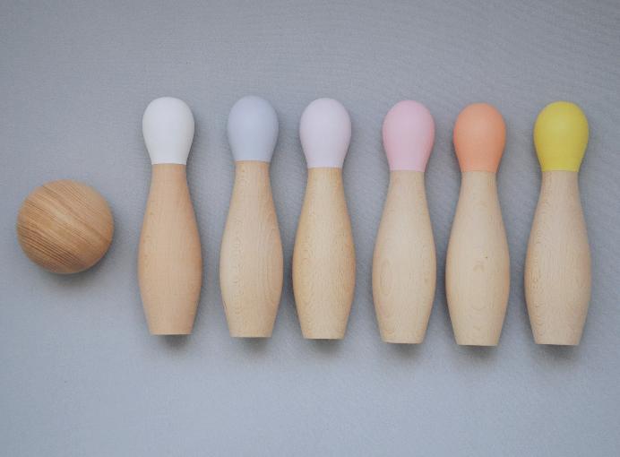 Bowling Set i trä- peach
