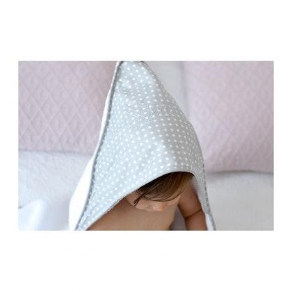 Exklusiv vit handduk med huva- badhandduk för barn , YOSOY