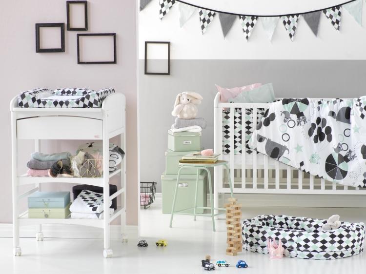 Vimpel till barnrummet, NG baby harlequin black