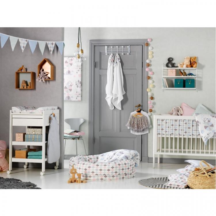 Vimpel till barnrummet, NG baby harlequin blå