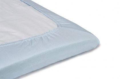 Blå, mint dra-på-lakan säng, NG Baby