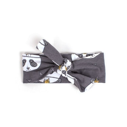 Hårband panda