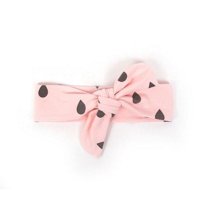 Hårband rosa drops