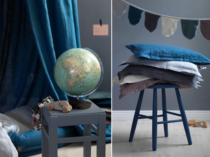 Blå sänghimmeln till barnrum från NG Baby Mood med ljusslinga Blå sänghimmeln till barnrum från NG Baby Mood