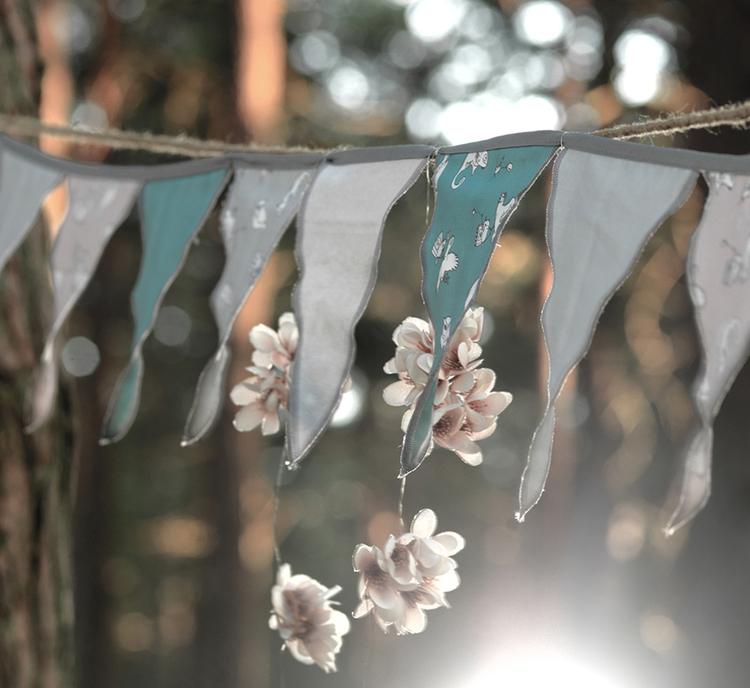 Vimpel till barnrummet, NG baby wood & fairytale