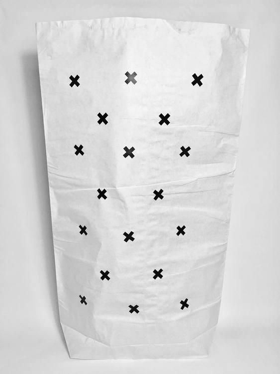 Papperspåse / Förvaringspåse i papper- plustecken