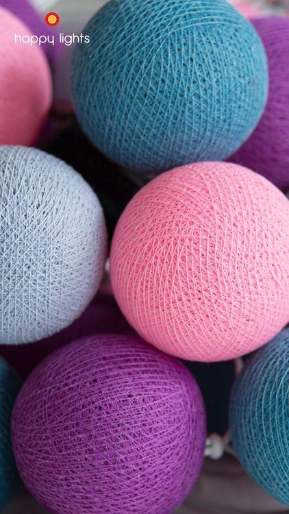 Happy Lights Yoboki 20 ljusbollar (ljus blå, rosa, blå, violett)