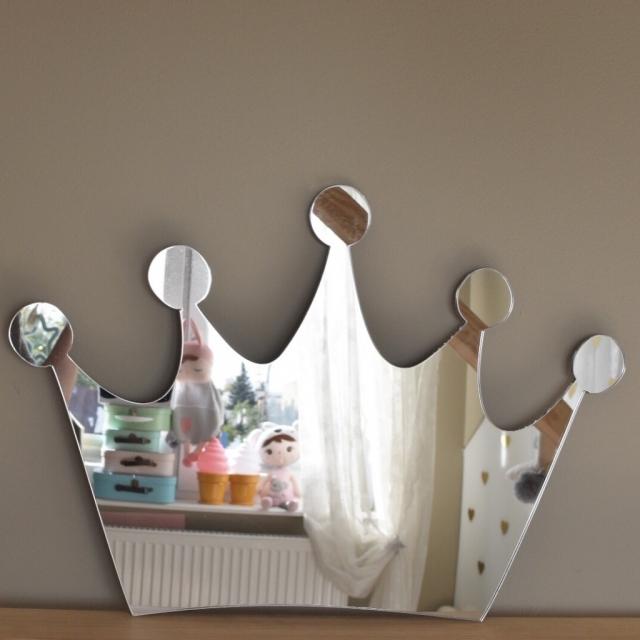 Spegel liten prinsesskrona till barnrummet spegel för flickor