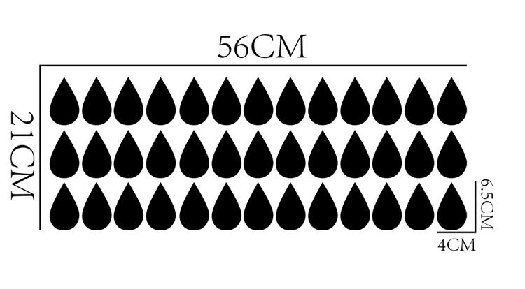 Väggklistermärken svarta droppar 39 st