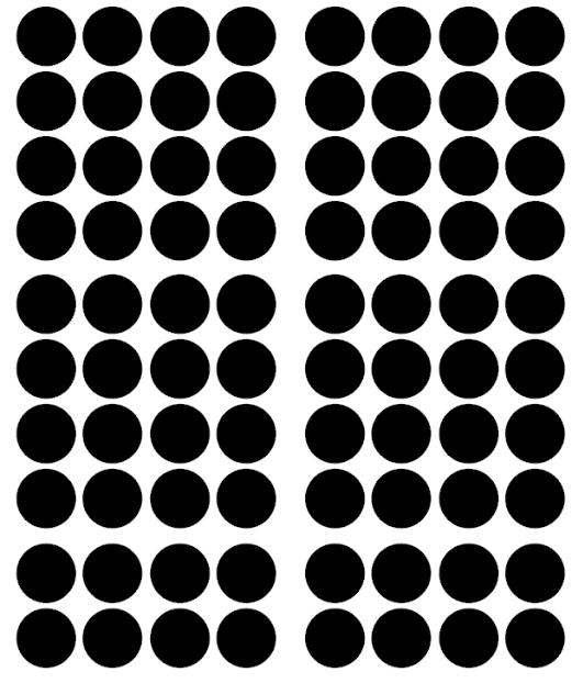 Väggklistermärken svarta  prickar 56 st