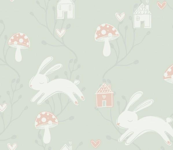 Tapet Flügger Färg kaniner