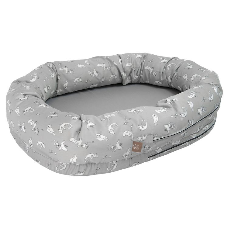 Babynest - Sovpöl NG Baby, Woods&Fairytale, Grey+Fairytale Grey
