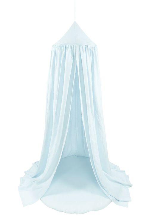 Blå sänghimmel av linne till barnrummet, Cotton&Sweets Blå sänghimmel av linne till barnrummet, Cotton&Sweets