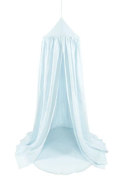 Blå sänghimmel av linne till barnrummet, Cotton&Sweets
