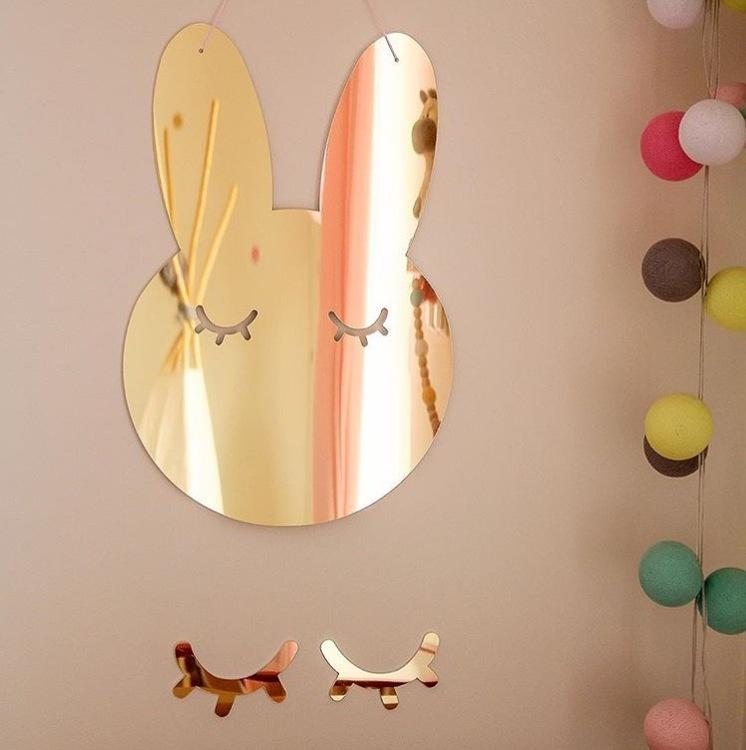 Kanin Spegel guld, Barnspegel till barnrummet
