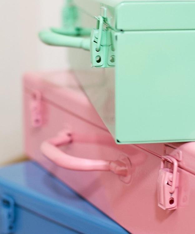 """Förvaringslåda """"Resväska"""" rosa"""