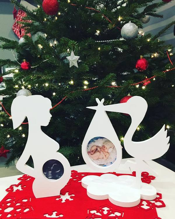 Fotoram Stork vit för ultraljudsbild för ultraljudsbild fotoramar för mammor