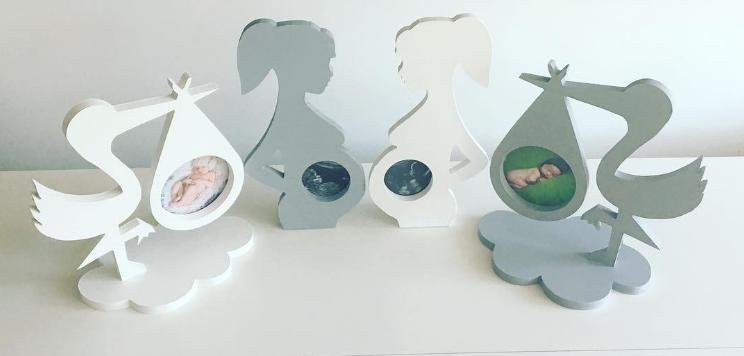 Fotoram Stork vit för ultraljudsbild för ultraljudsbild fotoramar för gravida kvinnor