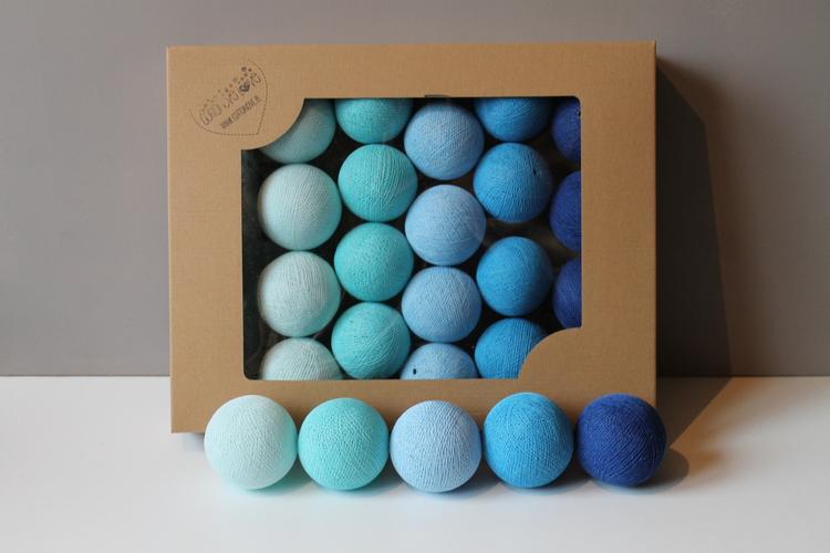 Ljuslinga Blue 20 ljusbollar, Cottonlove