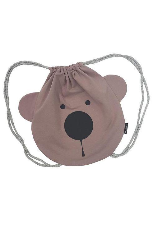 Ryggsäck puderrosa Björn ryggsäck för barn med björn motiv