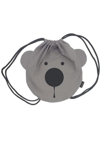 Ryggsäck grå Björn