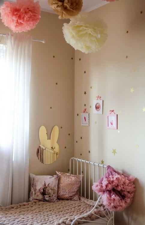 Kanin Spegel guld, Barnspegel till barnrummet guld spegel till barnrummet