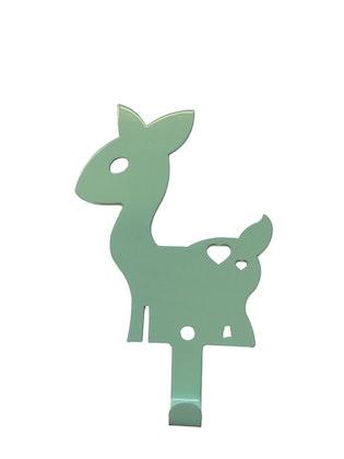 Vägghängare i metall till barnrummet, mint hjort