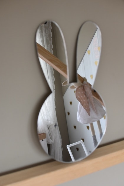 Simple Bunny spegel, Barnspegel till barnrummet