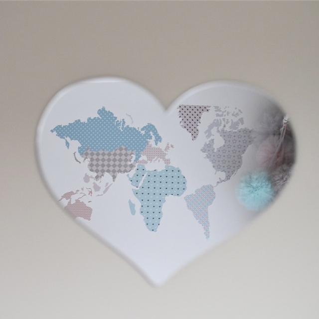 Hjärta Spegel, Barnspegel till barnrummet Spegel hjärta