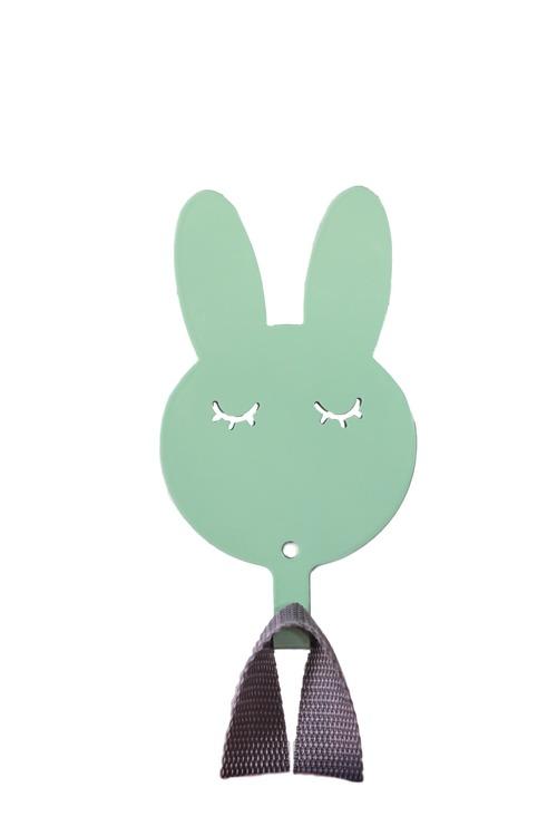 Vägghängare i metall till barnrummet, mint kanin Vägghängare i metall till barnrummet, mint kanin