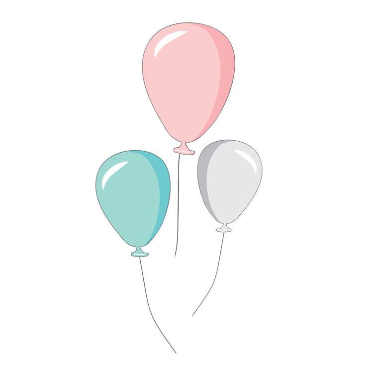 """Väggklistermärken """"tre ballonger"""", Dekornik färgada ballonger väggdekoration"""