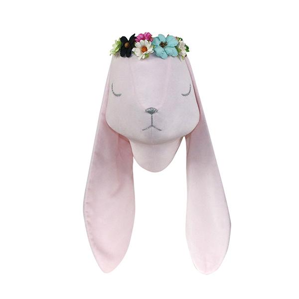 Djurhuvud rosa kanin väggdekoration Djurhuvud rosa kanin