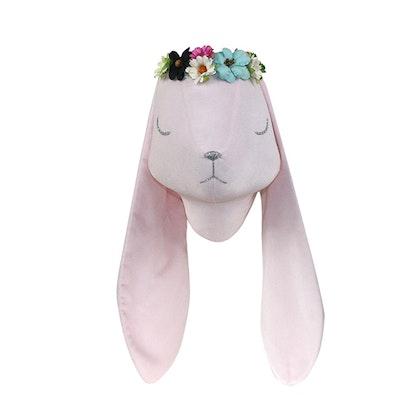 Djurhuvud rosa kanin väggdekoration
