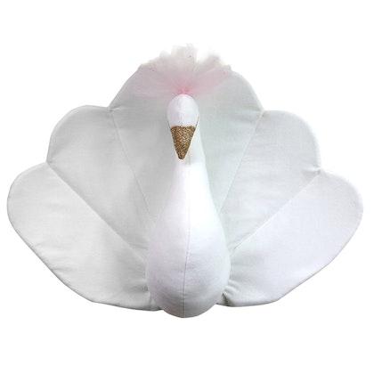 Väggdekoration vit påfågel