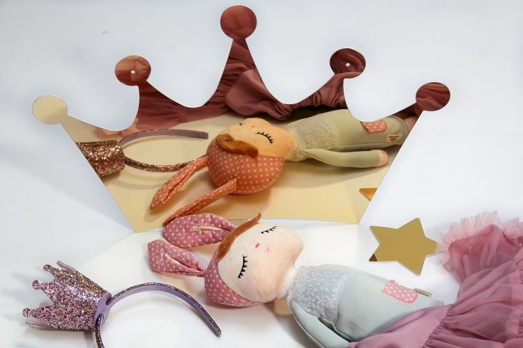 Spegel guld prinsesskrona till barnrummet