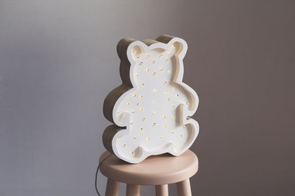Nattlampa till barnrummet vit björn lampa, Little Lights